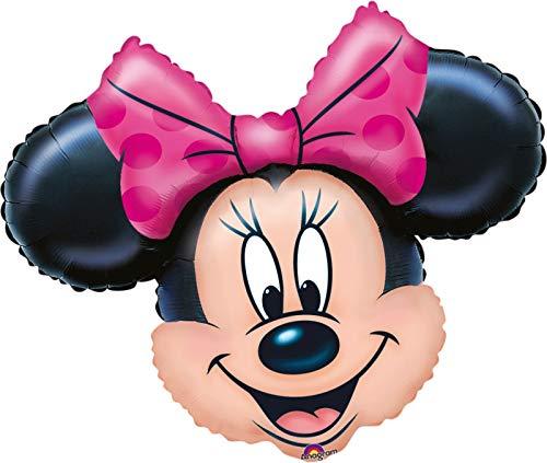 paduTec Ballon XXL Folienballon Luftballon - Minnie Maus Kopf - Geburtstag Kindergeburtstag Deko - geeignet zur befüllung mit Luft oder Helium Gas