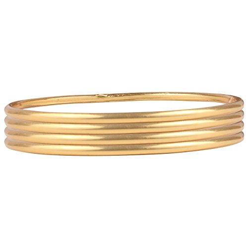 Ds Gold Plated Daily Wear Plain Real Look Set of Four Bangles for Women(Ds265)