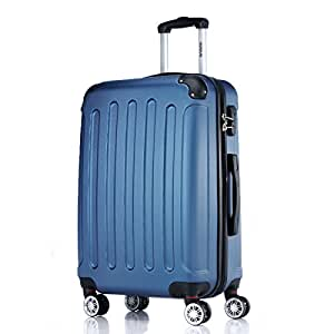 2045 Hartschale Koffer Trolley Reisekoffer einzelgröße XL-L-M in 10 Farben (M, Blau)
