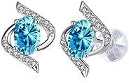 Swarovski Elements 925 Sterling Silver Crystal Studs Earrings for Women and Ladies Gift JRosee Jewelry JR667