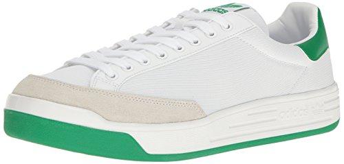 adidas Originals Men's Shoes | Rod Laver Super Sneakers, White/White/Fairway, (8 M US) (Rod Laver)