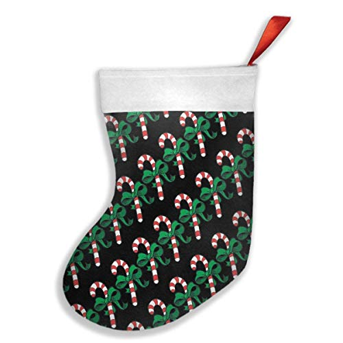 But why miss Candy Cane Green Bow Christmas Hanging Stocking Santa Claus Gift Party Accessory Xmas Tree Decor Festival Party Ornament Miss Candy Cane