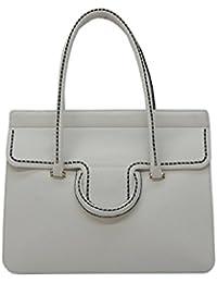 PLINIO VISONA' - 16193, Shoppers y bolsos de hombro Mujer, Bianco (Off White), 13x29x38 cm (W x H L)