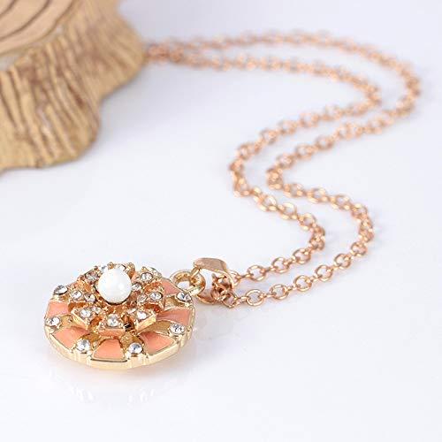 HuaMore Fashion Drop Oil Chain Blumen mit Drehhalsketten besetzt Länge: 52 + 5cm (Lang 5 Ohrringe Cm Kette Und)