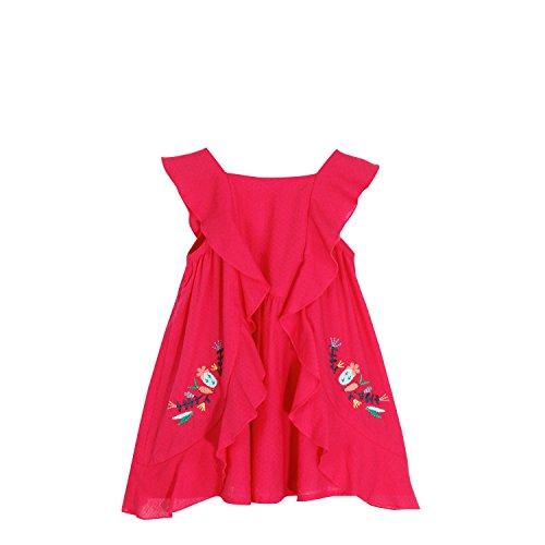 Catimini Baby-Mädchen Kleid Robe Voile Rust, Rosa (Framboise), 2 Jahre (Voile-kleid Rosa)