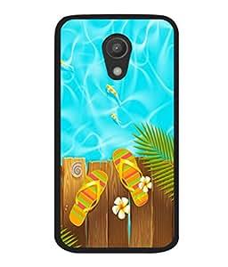 printtech Poolside Slippers Back Case Cover for Motorola Moto G2 X1068 , Motorola Moto G (2nd Gen)