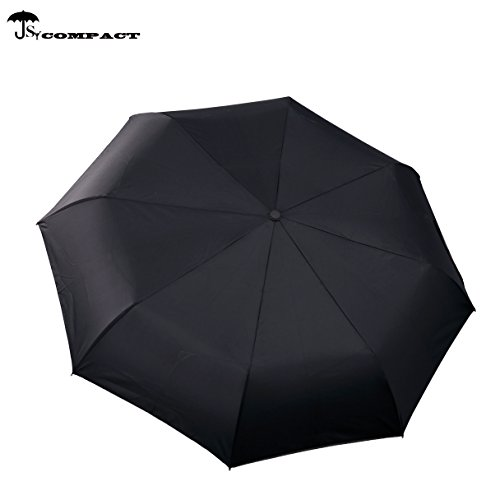 Parapluie de voyage automatique SY - Compact, coupe-vent, léger, incassable, noir (Noir) - SY-2
