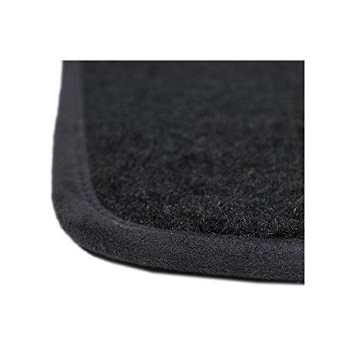 DBS 1763702 Tapis Auto - Sur Mesure - Tapis de sol pour Voiture - 3 Pièces - Antidérapant - Moquette noir 900g/m² - Finition Velours - Gamme Star