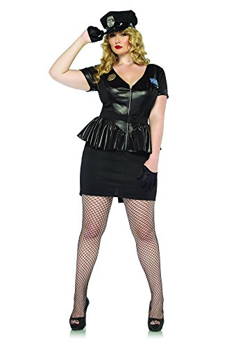 Leg Avenue 85283X - Traffic Stop Cop Kostüm Set, 3-teilig, Größe 48-50, (Halloween Kostüme Size Plus Amazon)