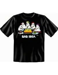 Weihnachten Bad Idea Fun T Shirt Übergrößen 3XL 4XL 5XL Schlechte Idee Fb schwarz