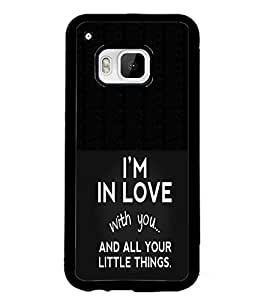 PrintDhaba Quote D-2917 Back Case Cover for HTC ONE M9S (Multi-Coloured)