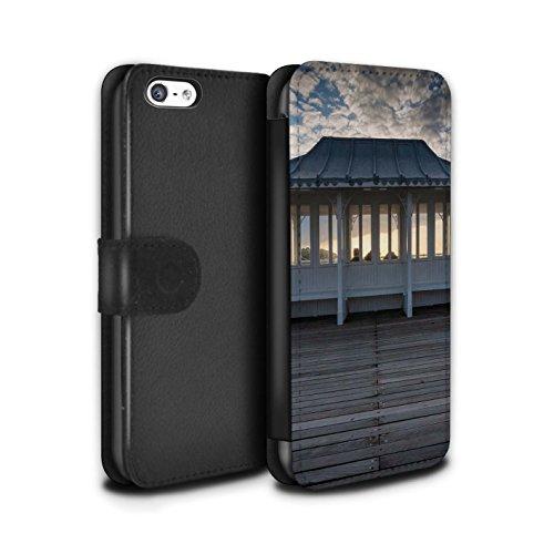 Stuff4 Coque/Etui/Housse Cuir PU Case/Cover pour Apple iPhone 5C / Point De Vue Jetée Design / Bord Mer Anglaise Collection Cabane Promenade