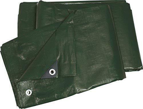 gewebeplane abdeckplane vert avec oeillets étanche indéchirable - 2 x 3 m