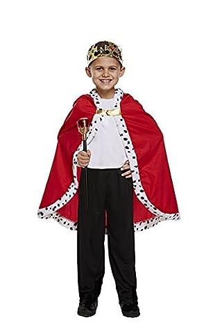 Costume Prince Childrens Fantaisie - Kings Robe Kids Fancy Dress Cape Xmas