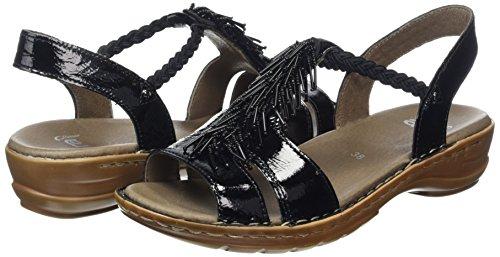 Ara - Hawaii, Scarpe col tacco con cinturino a T Donna Nero (Nero (01 nero))