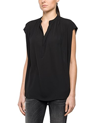 Replay Damen Bluse W2934 .000.82906, Schwarz (Black 98), Small (Tote Small Collection)