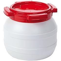 Fût à eau - 3,6 Litre - Etanche à l'eau et à l'air - Blanc/Rouge