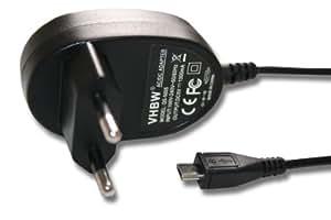 Chargeur/Câble de chargement 220 V avec connecteur Micro-USB (5V) pour divers marques, notammment Raspberry Pi, Acer, Asus, Nokia, HTC, Samsung, LG