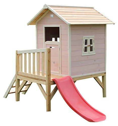 Exit Beach 300–Spielzeug-Häuser (Haus-Spiele auf Säulen, Kinder/Mädchen, Pink, Weiß, Holz,...