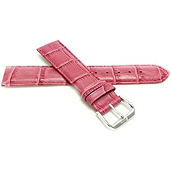 14mm Hot Pink Womens' Alligator Style Genuine Leather Watch Strap Band