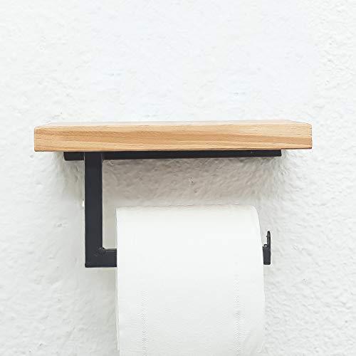 Nordic Goldene Badezimmer Rollenhalter Wc Handtuchhalter Handyhalter Wc Handschale Free Punch Square Tube Schwarz [Punch]