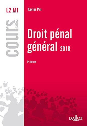 Droit pénal général 2018 - 9e éd.