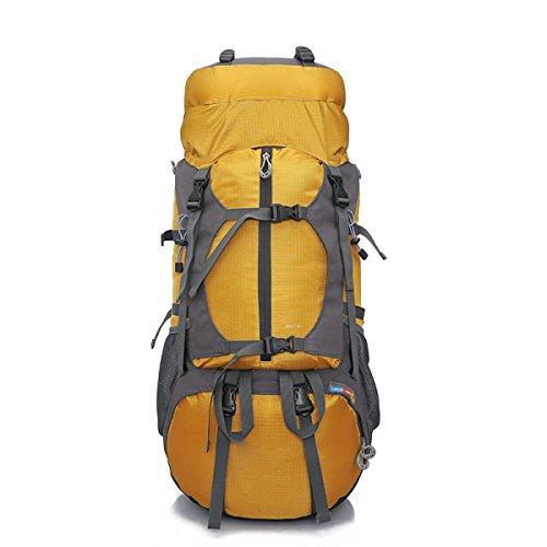 Water Resistant Escursionismo Trekking Zaino Camping Zaino Da Viaggio Zaino Da Corsa Scalata Knapsack Outdoor Sport Pack,Orange Yellow