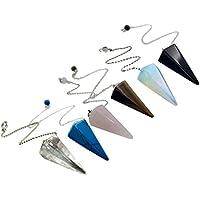 HEALIFTY 6Pcs natürliche Quarz Halskette klarem Kristall Opalite facettenreiche Spitzen Pendel Reiki Heilung Anhänger preisvergleich bei billige-tabletten.eu