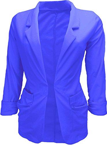 Glamour Fashion - Veste de tailleur - Femme Bleu - Blau - Königsblau