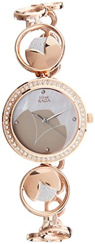 Titan Raga Analog Mother of Pearl Dial Women's Watch- 2539KM01
