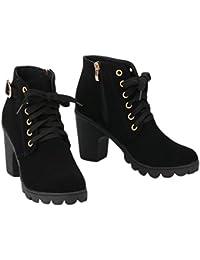 Bottes et boots Bottes de neige femme chaude coton courtes bottes hiver femmes chaussures Raquettes à neige ( Couleur : Gris , taille : 37 )