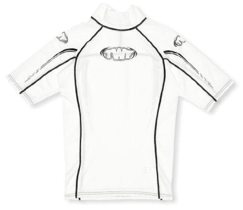 TWF Rash Guard Surf-Shirt, Unisex - Erwachsene, Bianco - Bianco -