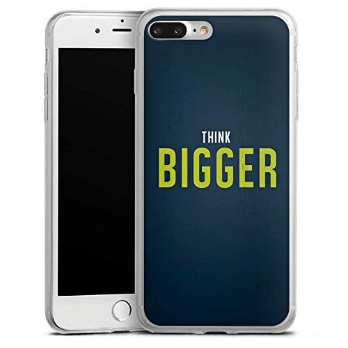 Apple iPhone 8 Plus Slim Case Silikon Hülle Schutzhülle Sprüche Spruch Statement Silikon Slim Case transparent