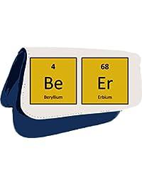 Cerveza Alcohol temáticas de declaración de la tabla periódica embrague bolsa o estuche, color azul
