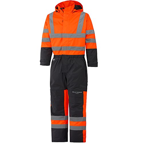 Helly Hansen Workwear Warnschutz Wetterschutz-Overall Alta Suit CL3 wasserdichter isolierter Winter-Arbeitsanzug 269 52, orange, 70665 -
