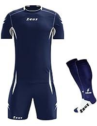 51534dae1b Zeus Kit Sparta Manica Corta COMPRESO di Calza Completo Completino Calcio  Calcetto Maglietta E Pantaloncino Sport