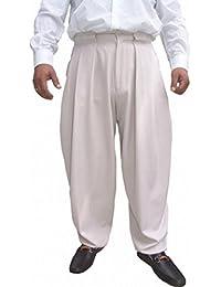 Il Padrino Moda Luxus Bundfalten Hose Hellgrau Thick
