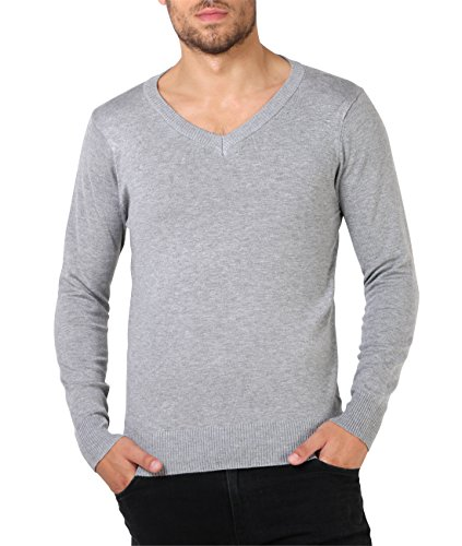 pull-col-v-classique-8013-gry-xl-x-large-gris