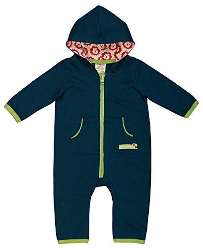 loud + proud Unisex Baby Strampler Overall Sweat, Gr. 68 (Herstellergröße: 62/68), Blau (Ultramarin ul)