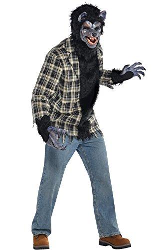 Amscan International Erwachsene Rabid Werwolf Kostüm - (Plus Size Werwolf Kostüme)