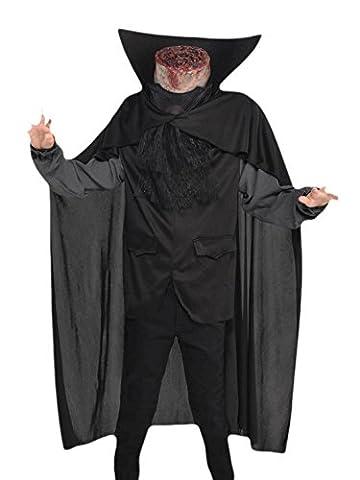 erdbeerloft - Unisex - Kinder Karneval Halloween Kostüm Headless Horseman, Schwarz, Größe 128-140, 8-10 (Headless Horseman Sleepy Hollow Kostüm)