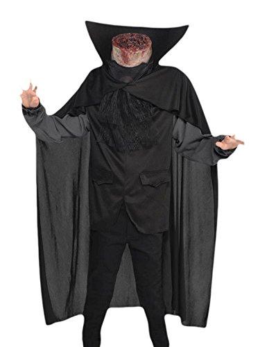 Faschingsfete Kinder Karneval Halloween Kostüm Headless Horseman, Schwarz, Größe 152-164, 12-14 ()