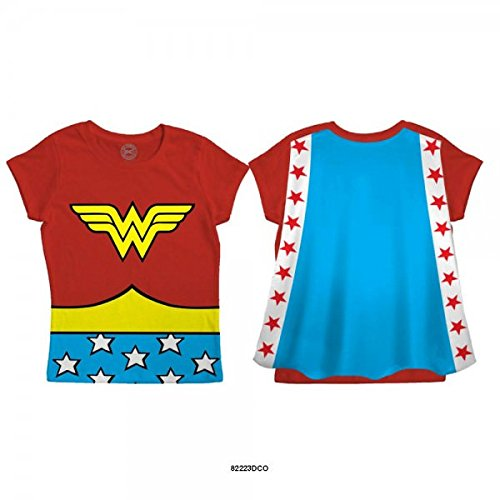 DC Comics Wonder Woman Toddler Red Caped T-Shirt | 3T (Wonder Woman Caped T Shirt)