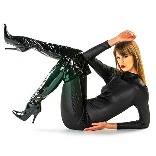 Damen Sexy Black Catsuit Catwoman Superheld Kostüm Outfit (Sexy Cowboy-outfit)