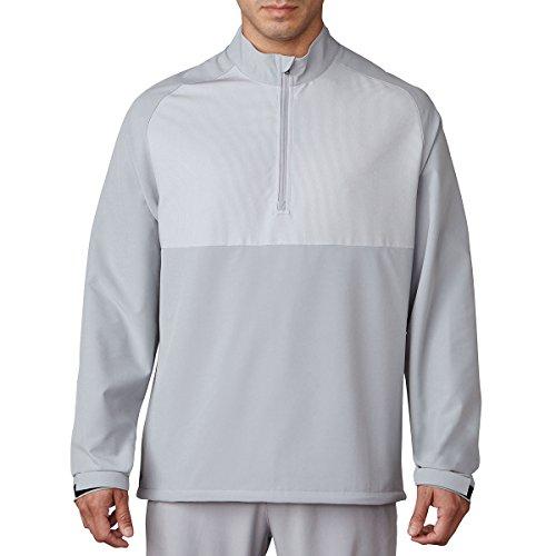 adidas Competition Stretch Golf Wind Jacke mit Reißverschluss, Herren M grau -