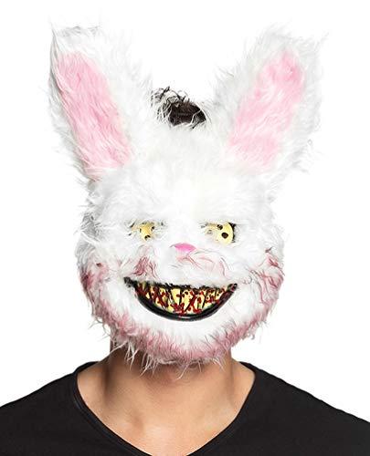 Karneval Klamotten Horror Maske Kaninchen mit Blut Zombie blutiges Kaninchen Bunny Rabbit