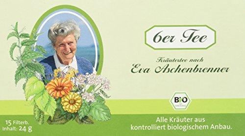 Herbaria Eva Aschenbrenner 6er Tee 15FB, 2er Pack (2 x 24 g) - Bio -