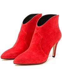 Buffalo - Botas de Piel para mujer rojo rojo