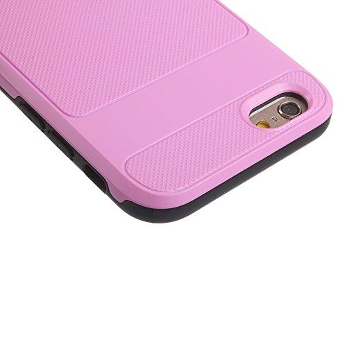 Wkae Case & Cover Honeycomb Housse de protection pour iPhone Texture Armour 6 &6s ( Color : Silver ) Pink