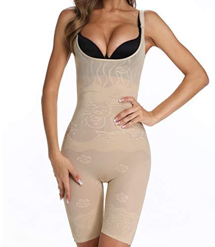 8250b476086 MISS MOLY Lenceria Moldeadora Mujer Faja Reductora Body Reductor Mujer  Abdomen Busto Abierto Corsé sin Costuras